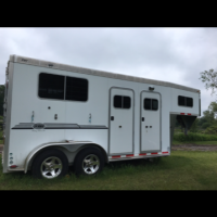 2011 Eby 2H GN aluminum trailer, hardly used, for sale